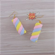 Diy Earrings Polymer Clay, Polymer Clay Crafts, Kawaii Jewelry, Cute Jewelry, Korean Accessories, Funky Earrings, Accesorios Casual, Cute Charms, Barbie