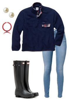 """""""Cold and rainy today...:("""" by dancetx ❤ liked on Polyvore featuring Hunter and Carolee"""