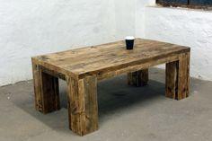 Couchtisch aus Bauholz  Sofa Tisch Gerüstdiele von Up-Cycle! Nachhaltiges Wohn-Design auf DaWanda.com