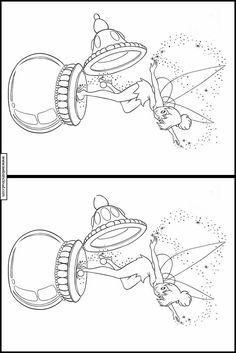 Spot forskjellene Disney å skrive ut 246 Disney, Drawings, Pintura, Pictogram, Disney Art