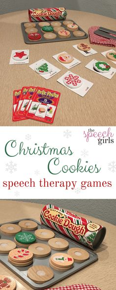 Christmas Cookies speech therapy games