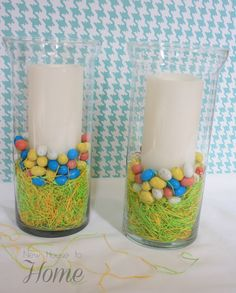 New House to Home: My First Easter Decoration, Plus a Better Way to Add Filler to Your Hurricanes