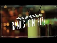 Learn How to Make a New Orleans Ramos Gin Fizz #nola #cocktail
