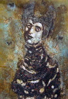 """Saatchi Online Artist: Corinna Button; Collagraph, Printmaking """"Caprice"""""""