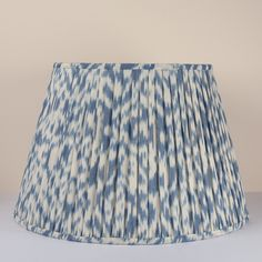Explore our beautiful collection of fascinating Ikat lampshades. Sourced from select pieces of fabric to make a statement and look fabulous. Fabric Lampshade, Ikat Fabric, Lamp Shades, Interior Design Inspiration, Timeless Design, Indigo, Blue And White, Rooms, Ceiling Lights