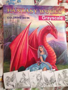 COLOURING BOOK REVIEWS · FANTASY WORLD (GRAYSCALE) BY ALENA LAZAREVA