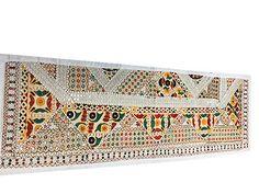 WHITE-MIRROR-WORK-BANJARA-TABLE-RUNNER-PATCHWORK-TABLE-THROW-HOME-DECOR-60x18  http://stores.ebay.com/mogulgallery/WALL-HANGINGS-TAPESTRIES-/_i.html?_fsub=353416519&_sid=3781319&_trksid=p4634.c0.m322