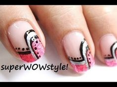 Abstract French Manicure - Easy French Tip Nail Designs