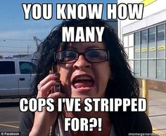 Online sensation: The viral video led to the creation of a Facebook page, which has become a repository of memes making fun of the stripper