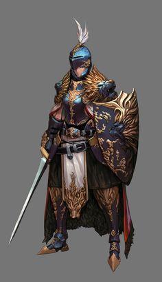 ArtStation - lion armor knight, Taemin Yoo