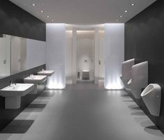 Bathroom updates pictures and public on pinterest for Modern public restroom design