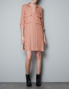 TUNIC WITH PATCH POCKETS - Dresses - Woman - ZARA Canada