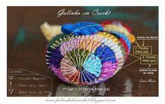 GALINHA DE CROCHE GRAFICO SOBRE FOTO