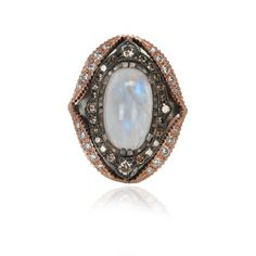 Show stopping statement ring, featuring a stunning rainbow moonstone surrounded with sparkling pave diamonds http://www.fragments.com/sofie-ring.html?___store=default