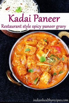 kadai paneer is a spicy, flavorful & delicious curry made with paneer in onion tomato gravy. This restaurant style paneer masala is quick to make & will be your new favorite. #paneer #kadaipaneer #paneermasala #vegetarian #curry #indianfood