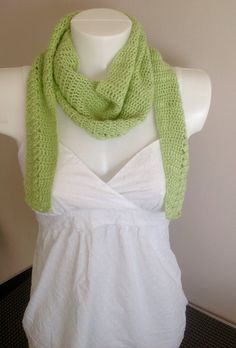 Lovely lime crochet Spring/Summer Scarf by Tippytop60 on Etsy https://www.etsy.com/listing/229406935/lovely-lime-crochet-springsummer-scarf