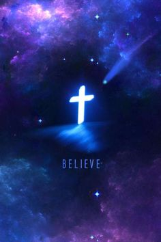Believe, just like the picture says