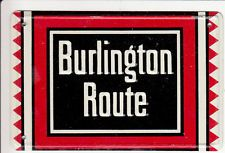 OLD BURLINGTON ROUTE RAILROAD METAL TRAIN SIGN SIGN