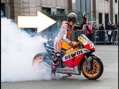 2015 Moto GP - HONDA Marc Marquez EPIC BURNOUT. Jerez Spain Race Prep. - YouTube  Epic Burnout by Marquez. Motogp!