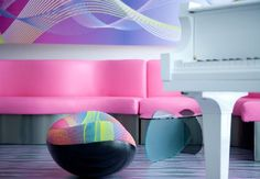 Futuristic and Colorful Nhow Hotel Interior Design by Karim Rashid ...