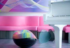Futuristic and Colorful Nhow Hotel Interior Design by Karim Rashid ...