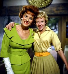 The lovely Maureen O'Hara has passed away 10-24-15 - she was 95 - here she is with Haley Mills in The Parent Trap (1961)