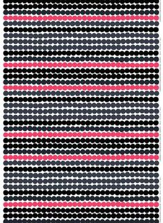 Marimekko's Räsymatto fabric is made of thick cotton and features Maija Louekari's lovely pattern in black, yellow and grey. Räsymatto, Finnish for rag rug, depicts the texture of traditional rag rugs in a delightful manner. Marimekko Wallpaper, Marimekko Fabric, Design Textile, Fabric Design, Pattern Design, Fabric Patterns, Print Patterns, Geometric Patterns, 4 Image