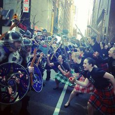 Don't mess with these Highland Dancers, they dance with swords! by New York Celtic dancers.