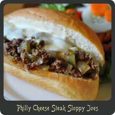 Recipe—Philly Cheese Steak Sloppy Joes | Diva di Cucina