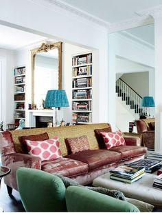 Interior: home of a fashion advisor Trinny Woodall – seaofgirasoles Style At Home, Living Room Inspiration, Interior Inspiration, Home Living Room, Living Spaces, London Decor, Flur Design, Interior And Exterior, Interior Design