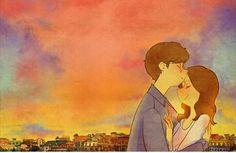 Besitos en la frente y con ellos dibujas un cielo lleno del cariño mas tierno.