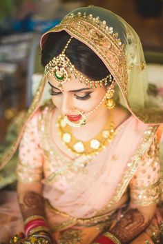 Looking for Bride in red bridal saree wearing layered jewellery? Browse of latest bridal photos, lehenga & jewelry designs, decor ideas, etc. on WedMeGood Gallery. Indian Wedding Jewelry, Bridal Jewelry, Gold Jewelry, Jewellery, Indian Jewelry, Indian Weddings, Real Weddings, Big Fat Indian Wedding, Indian Bridal