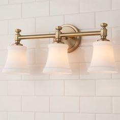 Bath Fixtures, Light Fixtures, Best Bathroom Lighting, Vanity Light Bar, Glass Vanity, Master Bath Remodel, Bathroom Inspiration, Bathroom Ideas, Bath Ideas