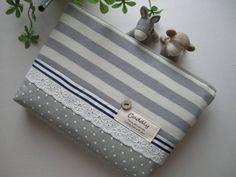 Notebook Case Sachi ハンドメイド ボーダー母子手帳 通帳カードケース インテリア 雑貨 Handmade ¥700yen 〆07月23日