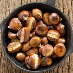 Roast chestnuts ready to cook and peel