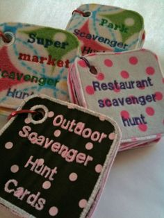 Outdoor Scavenger Hunt Game Cards for Kids by babyneedsmilk, $10.00