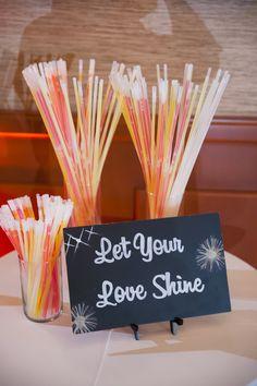 Trilogy at Vistancia Wedding | Let your Love Shine! glowsticks for the guests | www.weddingsatvistancia.com | Drew Brashler Photography