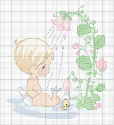 Baby Shower #3/3 .......... Precious Moments baby shower cross stitch