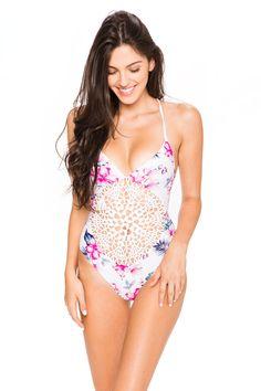 764ea1fda0867 Frankie s Bikinis Poppy One Piece - Floral Stripe    Bikini Luxe - Wanelo  App for Shopify