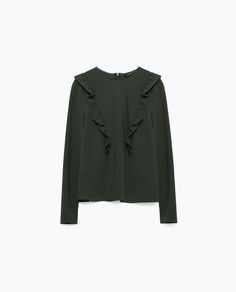 Image 8 of LONG SLEEVE FRILLED TOP from Zara