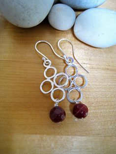 $29 - Purple Circles - Sterling Silver Earrings with Purple Faceted Jasper Round Stones - Visit My Shop --> https://www.etsy.com/listing/150341423/purple-circles-sterling-silver-earrings