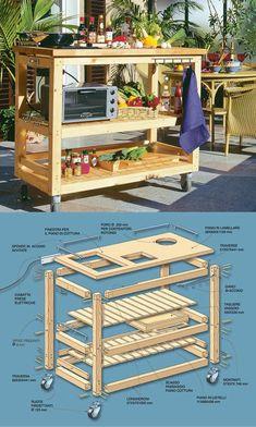 Come costruire una cucina in legno per giardino con ruote facile da spostare Pergola Ideas For Patio, Pergola Diy, Diy Patio, Outdoor Sinks, Diy Outdoor Kitchen, Diy Kitchen, Diy Wooden Projects, Wooden Diy, Bbq Shed