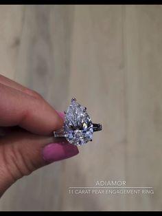 Baguette Engagement Ring, Pear Shaped Engagement Rings, Platinum Engagement Rings, Three Stone Engagement Rings, Designer Engagement Rings, Three Stone Diamond Ring, Diamond Rings, Samantha Pics, Pear Shaped Diamond