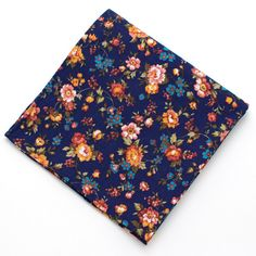 The fabric gods have once again smiled on us this spring. Our most popular floral, the Vintage English Rose has found its way back to us so that we can now offer it in a pocket square. The rich navy g