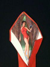 VINTAGE 1940'S-50'S ORIGINAL PIN UP GIRL PEEK A BOO NECKTIE #vintage #vintageties #pinup