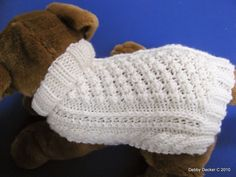 Easy to knit Aran Knit Dog Sweater knitting pattern Garden Path design Instant download PDF by KnittyDebby on Etsy