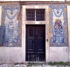 Portuguese door ~ phenomenal detailing on the walls, just amazing. I wonder what it all means?