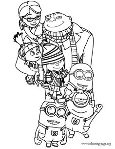 free color pages | Despicable Me FREE Coloring Pages