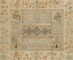 A LARGE FINELY SEWN GEORGE III SAMPLER by Mary Portar