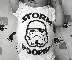 Keep your little Imperial in training looking stellar as he sleeps in his crib by dressing him up in this Star Wars Stormpooper baby onesie. The onesie is made from 100% cotton for a superb fit and makes an ideal gift for anyone who's a fan of the film series.